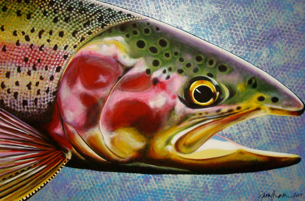 Original Rainbow Trout Painting