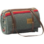 Pendleton Camp Blanket With Leather Carrier
