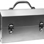 Nickel-Plated Aluminum Lunch Box